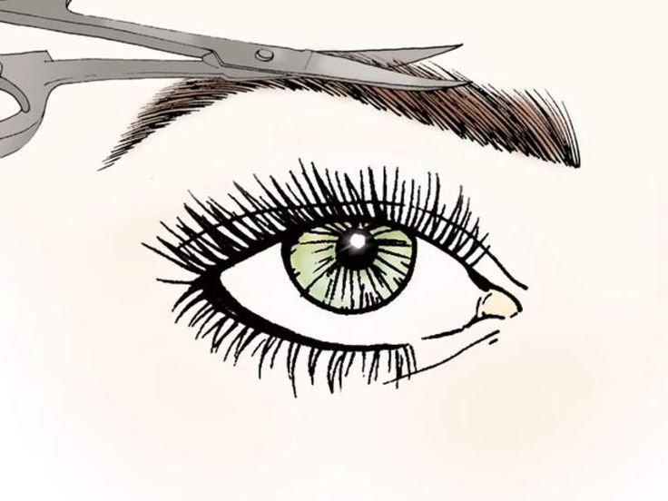 eyebrow trimming scissors
