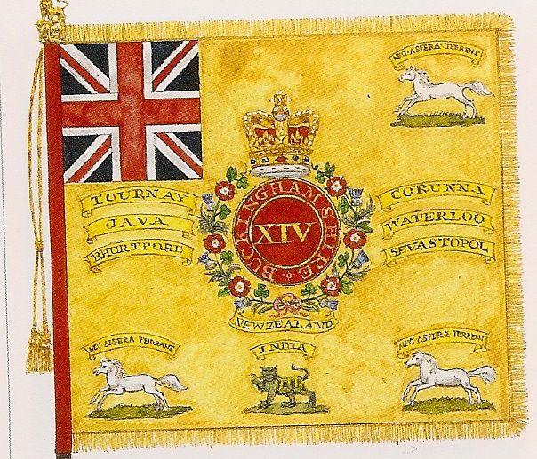 Regimental Colour ,14th ( Buckinghamshire), Foot ,1876
