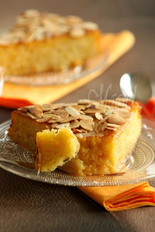 Fondant à l'orange et aux amandes - Fondant with orange and almonds