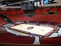 Lloyd Noble Center.  Home of the Oklahoma Sooner basketball team.