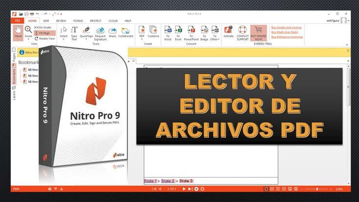 Descargar e Instalar el mejor lector y editor de archivos PDF Nitro Pro 9