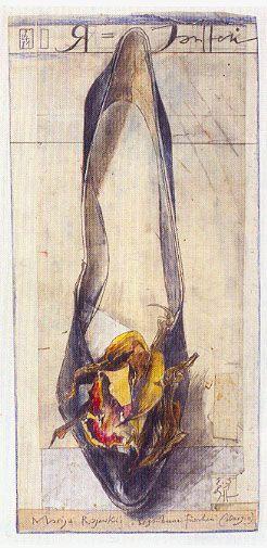 Najelie - Horst Janssen.2 I'm even addicted to illustrations of shoes!!