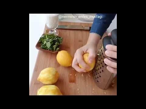 Maden Suyu ile Nefis Pratik Limonata Tarifi - YouTube