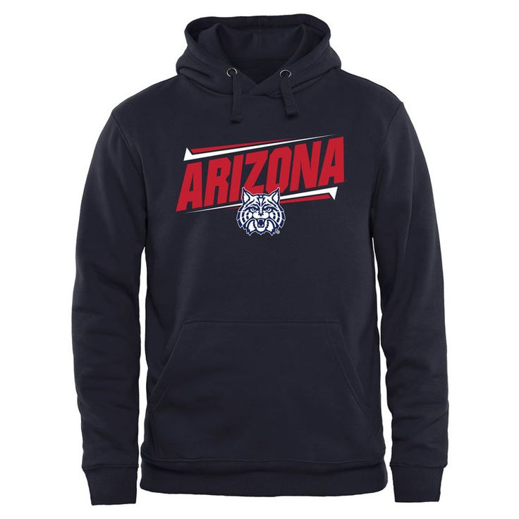 Arizona Wildcats Double Bar Pullover Hoodie - Navy