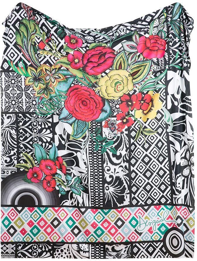 Desigual - B & W Luxury Foulard Bedspread - 260x270cm