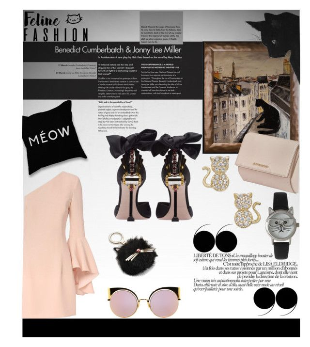 Cat style by tempestaartica on Polyvore featuring moda, Exclusive for Intermix, Miu Miu, Givenchy, Olivia Pratt, Fendi, Kate Spade and catstyle