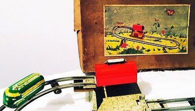 Antico Gioco Latta Trenino TIN TOY J. HOEFLER anni '40/'50 Germany U.S. Zone | eBay
