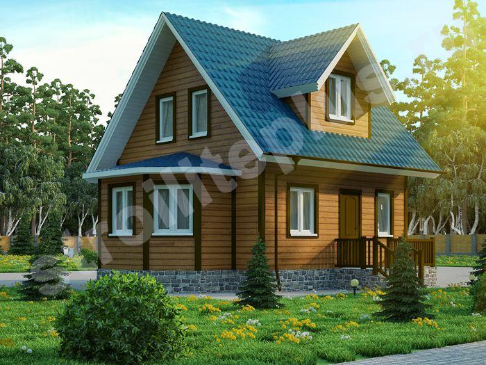 "Дом из бруса 6х6 ""Модерн"" с эркером"