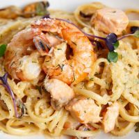 Cajun Chicken and Shrimp Alfredo for the Slow Cooker
