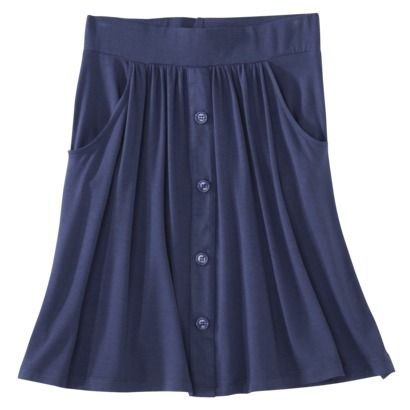Merona® Women's Casual Button Skirt - Assorted Colors - Looks like the Kelly skirt pattern with gathers instead of pleats.