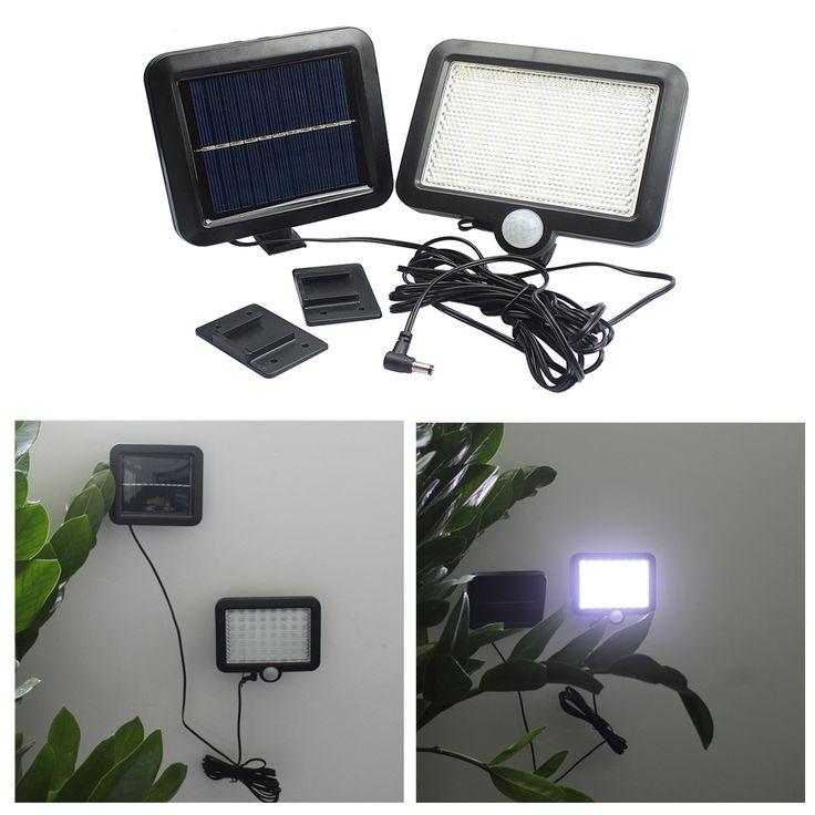 180LM 56 pcs 2835SMD Blanc LED Solar Power Motion Sensor Détection Étanche Extérieure Jardin Pelouse Lumières Lampe de Sécurité mur Lumière