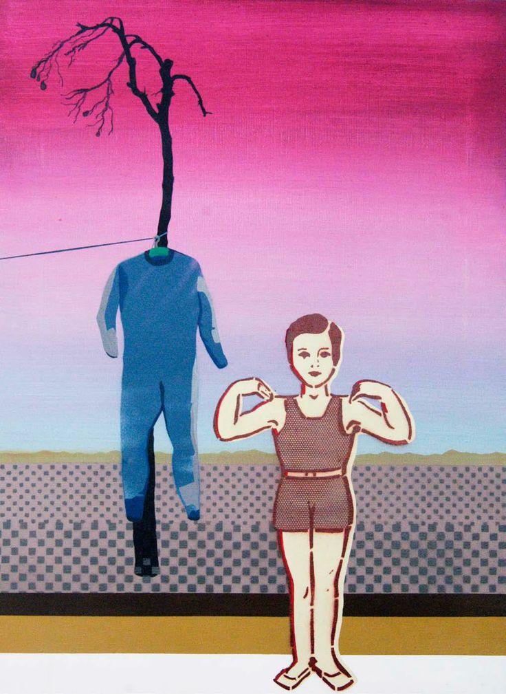 Simpson, 'Gdzieś i Nigdzie 03', 50x70 cm, acrylic on canvas, 2011