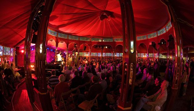 """""""A performance in the Spiegeltent in George Square Gardens during the festival"""".    #Edinburgh.org"""