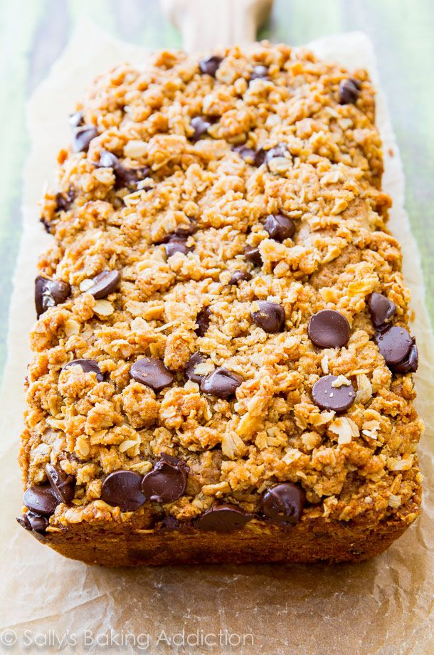 Super moist Chocolate Chip Zucchini Bread with a buttery oat streusel, brown sugar, and lots of sweet spices. No wonder this recipe won firs...
