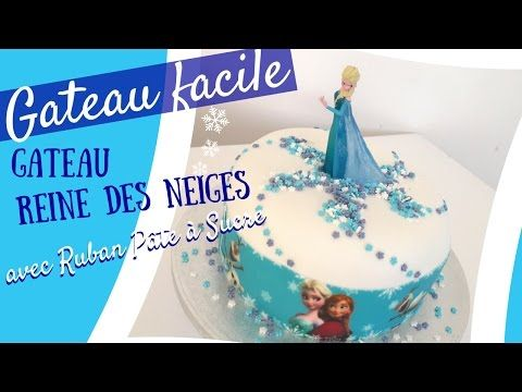 Faire gateau Reine des neiges ruban pate a sucre | Blog Univers Cake