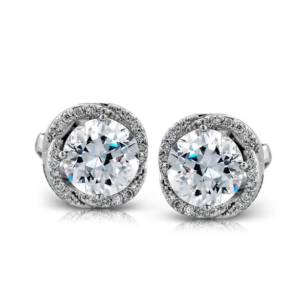 ZE314- These elegant 14k white gold earrings from our Classic Beauty Collection are perfect to wear for any occasion, they are comprised of .15ctw of white diamonds.