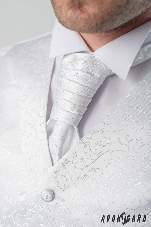 Pánská fraková košile se svatební vestou, regatou a kapesníčkem. Vše značka AVANTGARD.   ///   Men's shirt cufflinks, wedding vest and tie and handkerchief. Brand AVANTGARD.