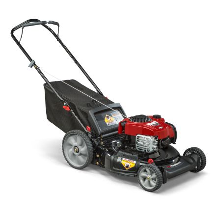 Snapper 21 inch Gas Self Propelled Lawn Mower with Side Discharge, Mulching, Rear Bag, High Wheel