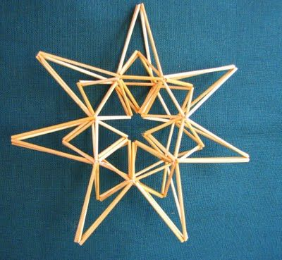 straw stars ornaments instructions Suvikumpu: Olkitähti