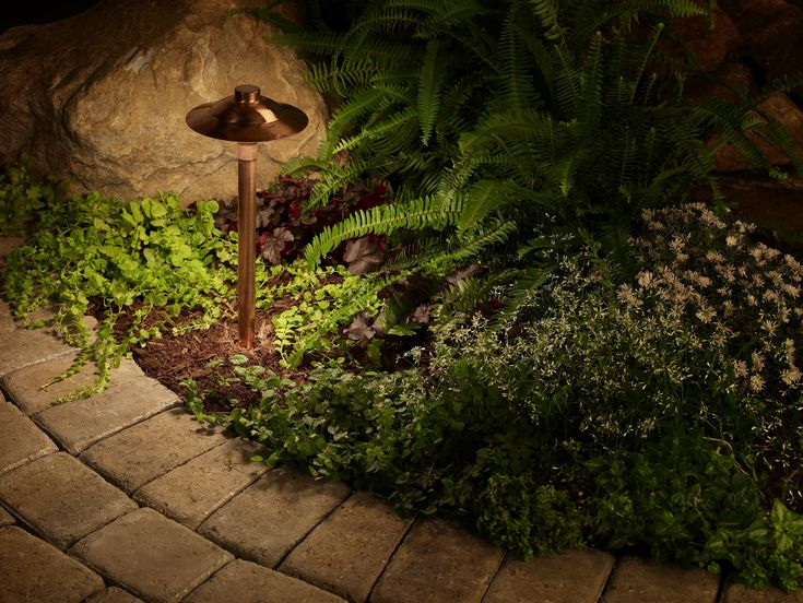 10 best landscape lighting images on pinterest landscape lighting copper path lights spread ambient light and blend in with the landscaping beautiful aloadofball Image collections