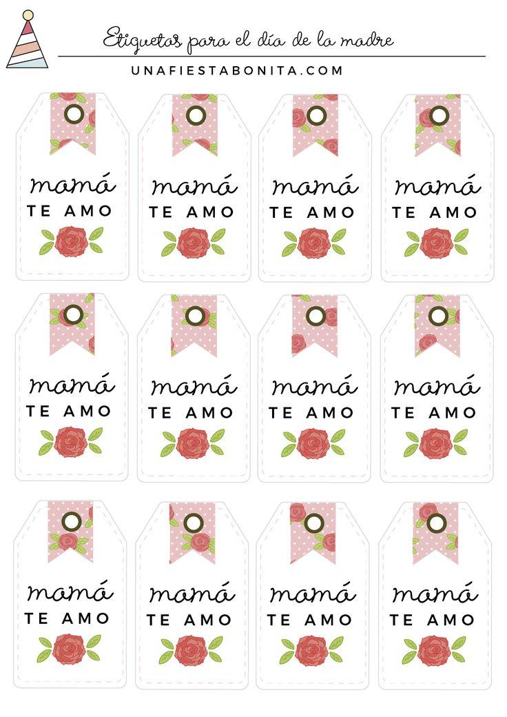 etiquetas gratis para el dia de la madre