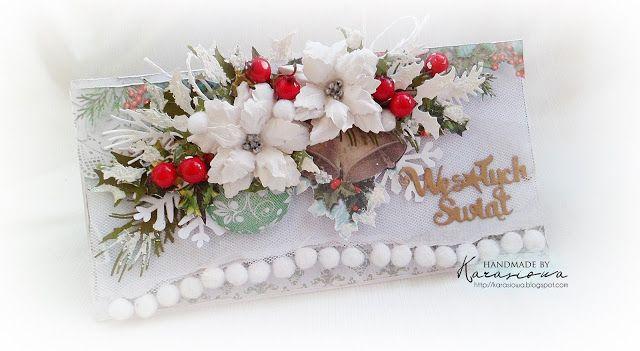 .: Kartka świąteczna z poinsencjami - DT Namaste