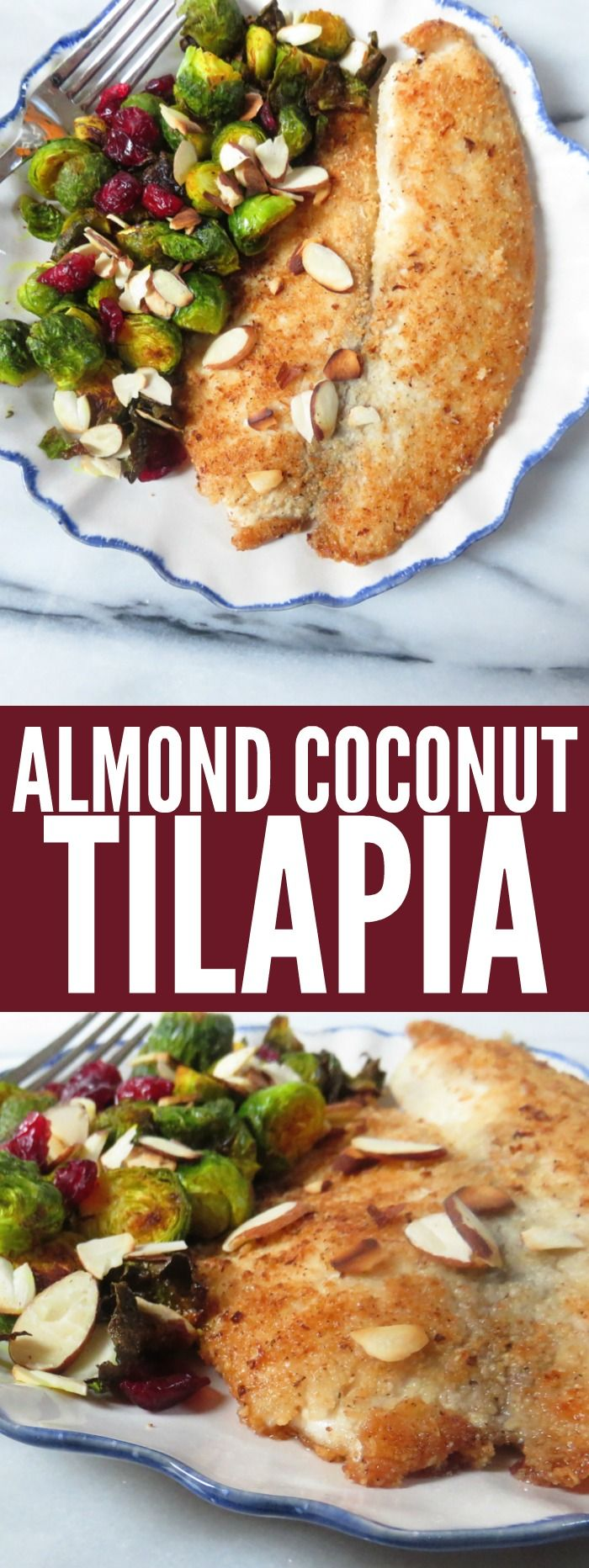 Easy and delicious Almond Coconut Crusted Tilapia is the perfect quick weeknight dinner. It's low carb, gluten free, paleo, and whole 30! thetoastedpinenut.com