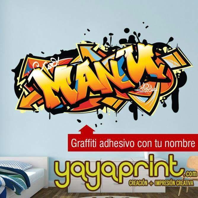 Graffiti con tu nombre pegatina graffiti nombre decoraci n for Graffitis para ninos