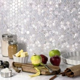 Kitchen Backsplash Accent Tiles To Use With Pebbles