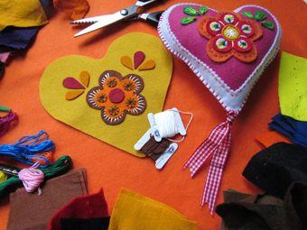 Workshop FOLKLORE hart borduren. Handwerkjuffie.