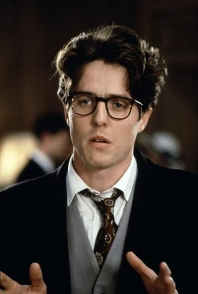 Hugh Grant's glasses in Four Weddings and a Funeral