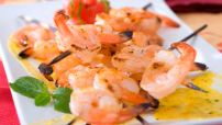 BBQ Shrimp with Mango Habanero Salsa Image