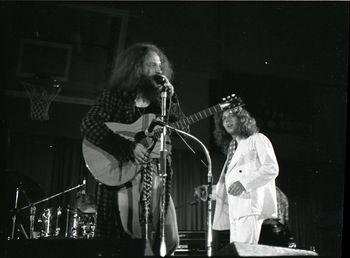 Jethro Tull Ian Anderson and John Evan