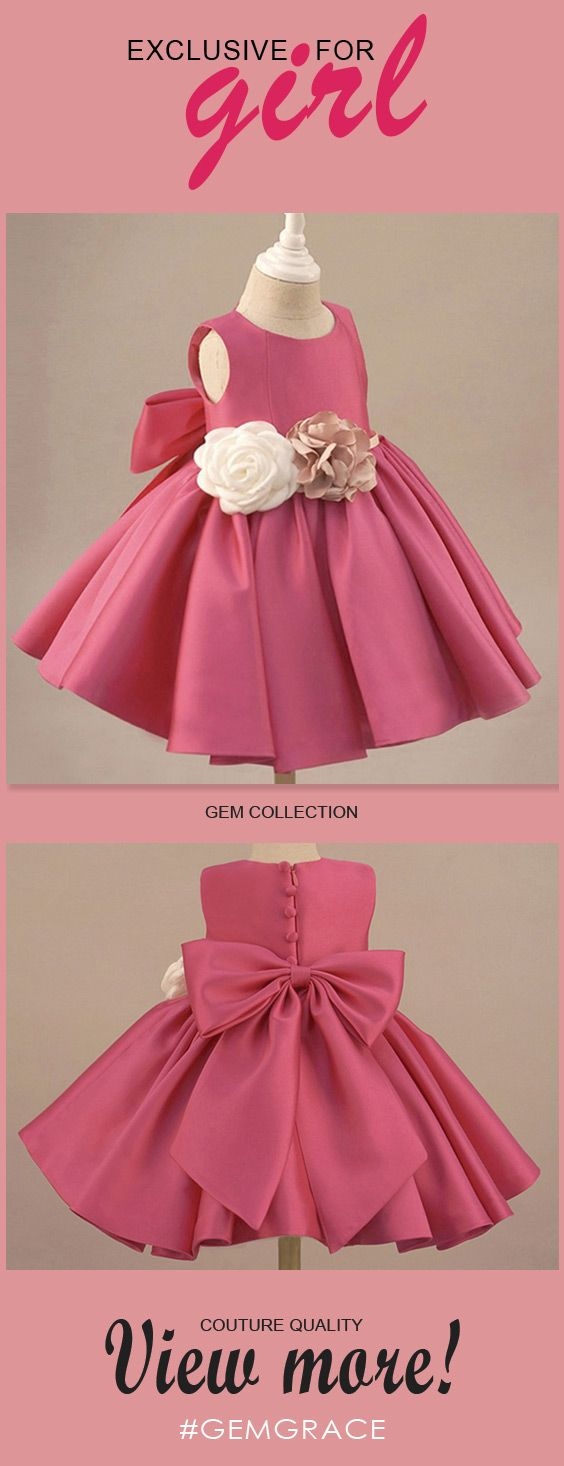 Only $54.99, Flower Girl Dresses Fuchsia Satin Classic Flower Girl Dress Elegant With Flowers And Bow #TG7015 at #GemGrace. View more special Flower Girl Dresses,Cheap Flower Girl Dresses now? GemGrace is a solution for those who want to buy delicate gowns with affordable prices. 2018 new arrivals, free shipping, shop now to get $5 off!