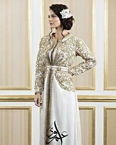 Full handwork golden-white combination. #