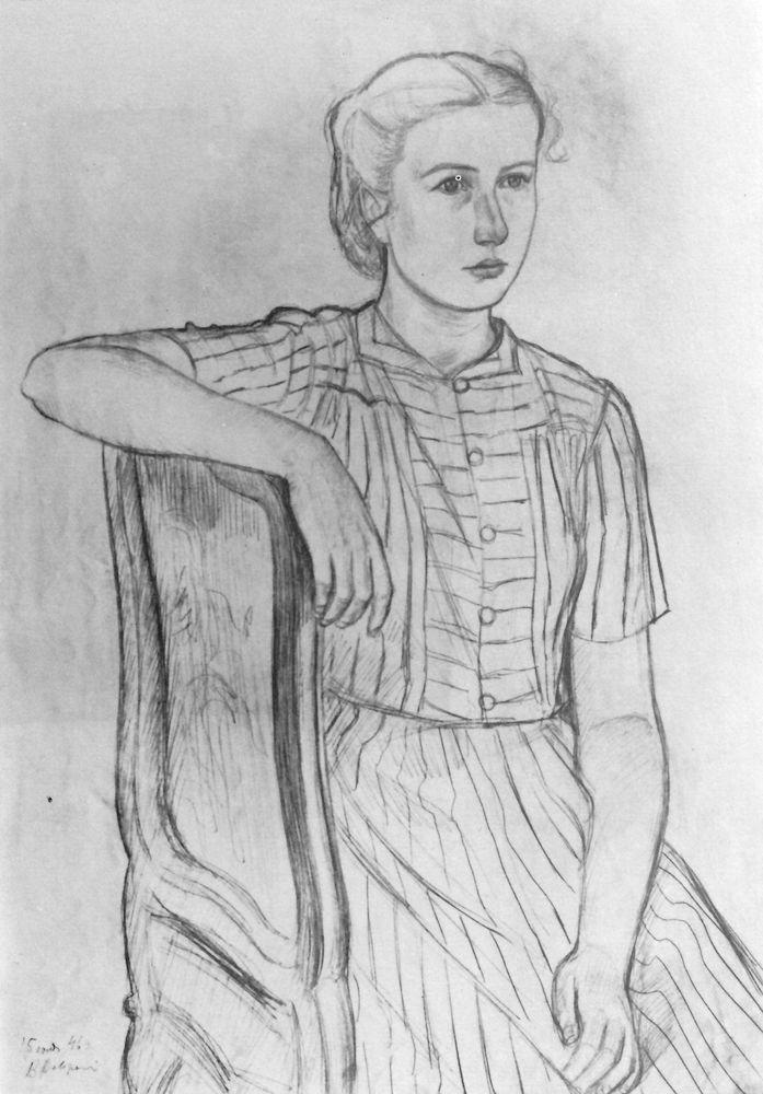 Masha Favorskaya. 1946. Pencil.