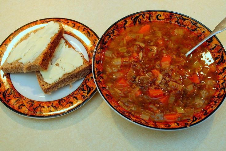 Deborah Madison's Lentil Soup (see link for recipe).  I love this recipe.  I add more carrots and celery, then lots of greens (usually kale) for more veggies, and usually serve it over bulgur or rice.  Very hearty for a cold night.
