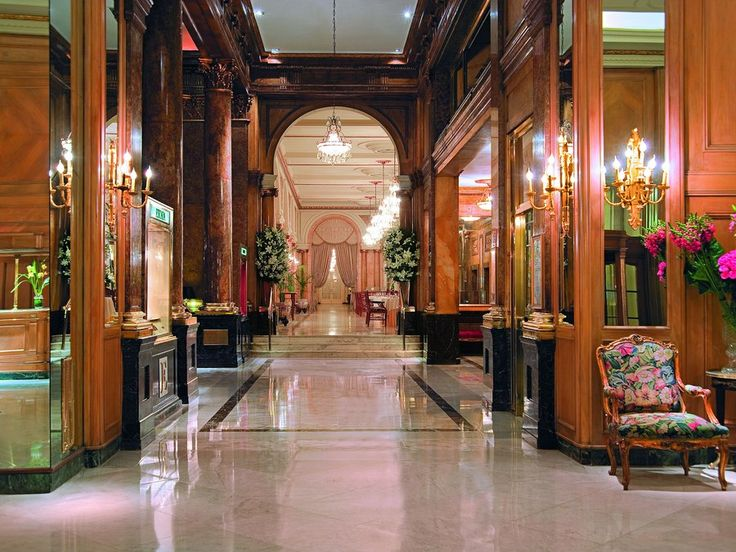 """Readers' Rating: 86.601 It's """"class all the way"""" at this """"old-world Belle Époque hotel"""" with soaring ceilings and crystal chandeliers near Recoleta Cemetery. Built in 1932, it has rooms designed with silk drapes, ornate furniture, and paintings by Argentine artists. The cuisine is French at La Bourgogne, while L'Orangerie has a famous a breakfast buffet and afternoon tea is served by white-gloved waiters."""