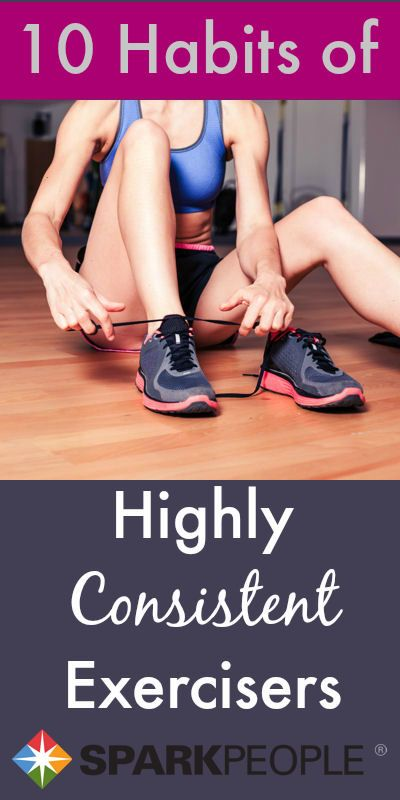 10 Habits of Highly Effective Exercisers. Ven you can can pick up some new exercise habits! | via @SparkPeople