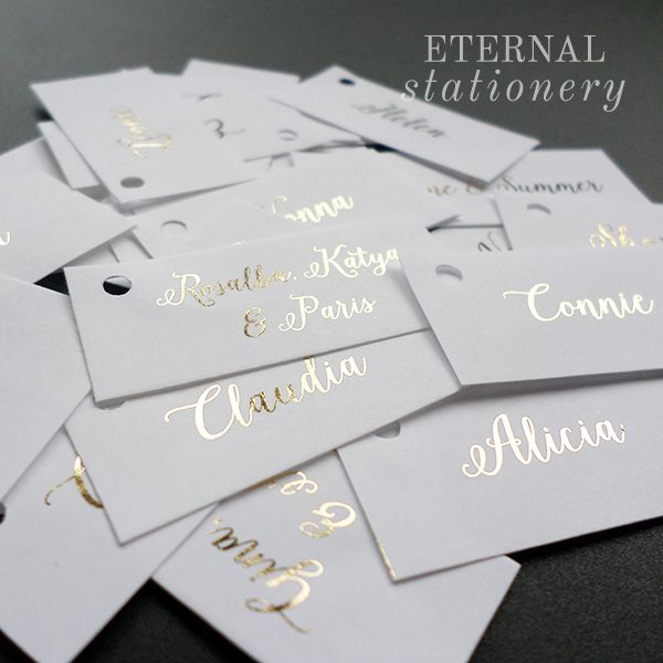 Gold Foil favour tags  Created by Eternal Stationery www.eternalstationery.com.au