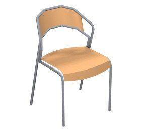 Tango is a tough and comfortable chair. The supportive curved shape provides ample support for the back and makes it easy to rise out of the chair. Despite its sturdy appearance, Tango is stackable (6 chairs high). Both the seat and the back are made of moulded beech and are available entirely in wood or padded and upholstered.