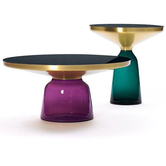 Classicon bell coffee tables now on show @contempoperth #beautiful #tables #glass #design #art #sebastianherkner #interiors #Instalove #instadesign #handmade #archilovers #instagood @aniboufurniture