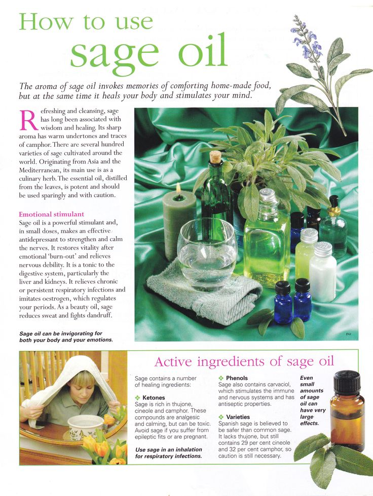 Herbs:  How to Use #Sage Oil.
