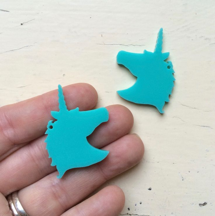 Pair Unicorn Head Dangles #australiasbiggestandbestrangeoflasercutsupplies #craftycutslaser #diyjewelerysupplies