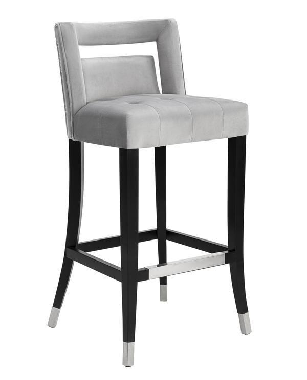 hale grey velvet counter stool in 2019 home decorating bar rh pinterest com