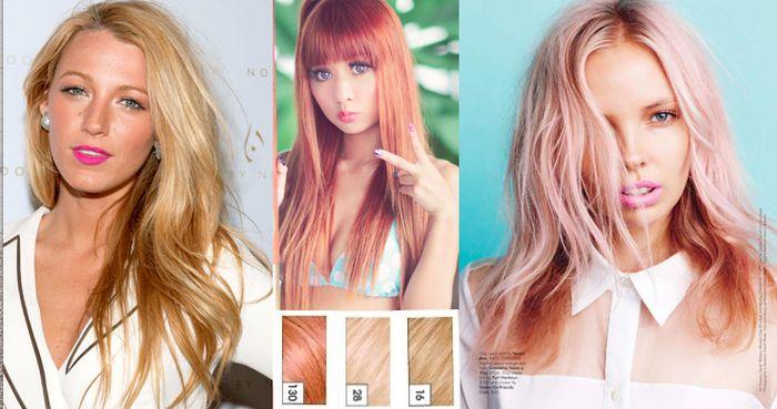 OKEJ, nu har jag bestämt mig och hittat bilder på hur jag vill att min hårfärg ska se ut till hösten. ROSÉ guld ska det vara. Så jäkla snyggt och lite annorlund