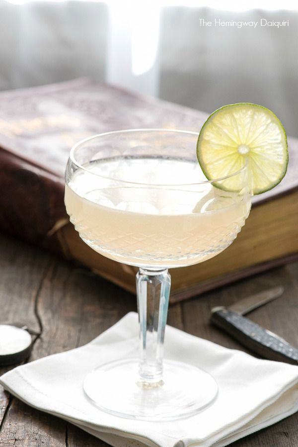 The Hemingway Daiquiri cocktail. White rum, fresh citrus juices and a touch of sweetness from Luxardo. - BoulderLocavore.com