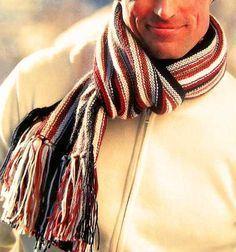 Bufanda tejida para hombre
