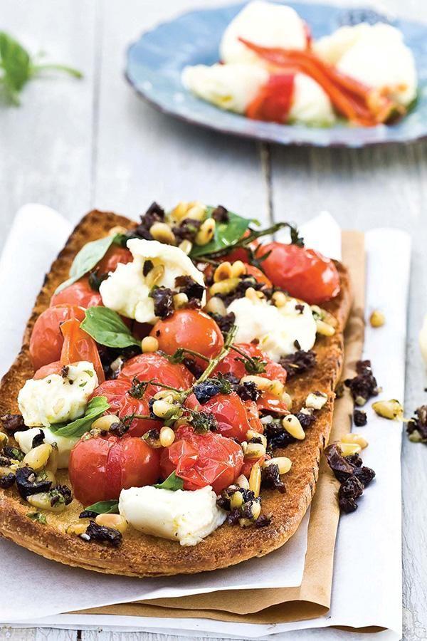 Ciabatta pizza: Vegetarian dish #rooirose