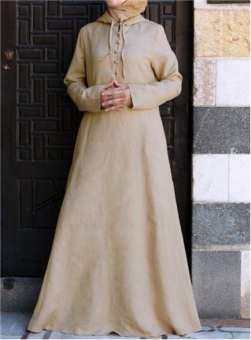 Pleated Hood Abaya